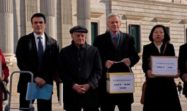 「反活摘器官」 西班牙25萬個簽名呈交國會