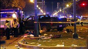 美路州新奥尔良嘉年华会 小货卡冲撞人群28伤