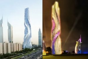 每层都能转360° 迪拜建全球首座旋转摩天大楼