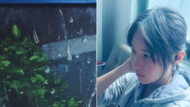 福建16岁女生酷似刘亦菲 黑板画美到眩目