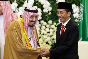 沙特國王訪印尼 隨扈620人 行李459噸