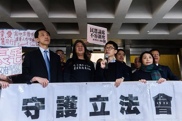 港四议员宣誓司法复核案开审