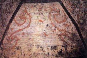1700年前汉魏墓葬群现身辽宁 石室壁画墓早敦煌300多年