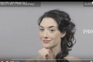 只要1分钟!这个女生将让你看完一百年以来化妆方式