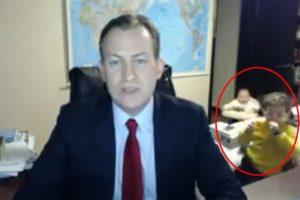 BBC重要直播 連線教授遭兒女亂鏡闖入