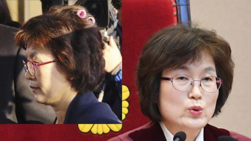 朴槿惠彈劾案太緊張!代院長頂小紅髮捲出現 網友心酸