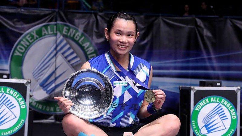 全英羽球女單賽事 台灣選手戴資穎奪冠 穩坐球后寶座