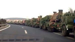半岛局势恶化 中共大批军车集结中朝边境