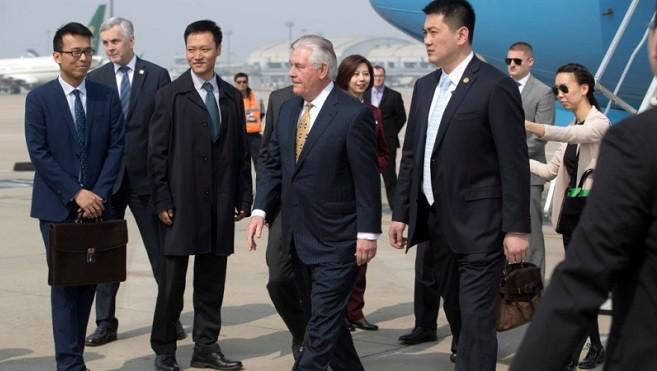 蒂勒森抵达北京 朝鲜半岛局势成焦点
