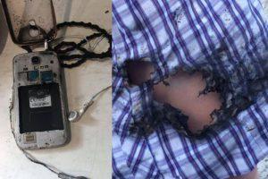 三星S4手机爆炸 澳洲15岁女生腿烧伤