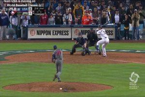 世界棒球经典赛4强第2场 美国以2比1击败日本(视频)