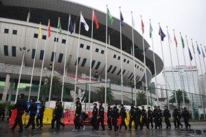 中韩足球赛长沙举行 安保空前万警戒备