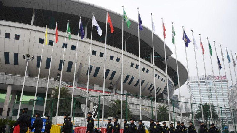 中韓足球賽長沙舉行 安保空前萬警戒備