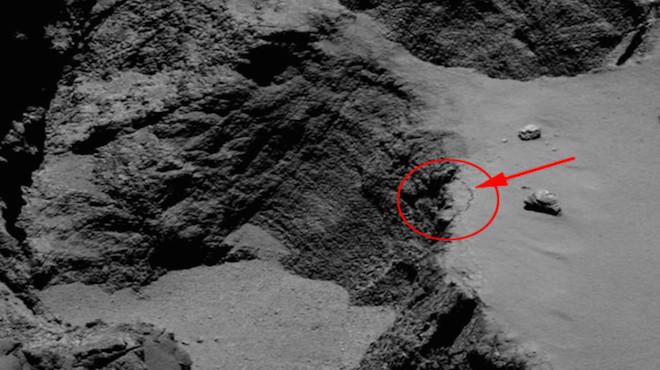 彗星上悬崖也会崩塌! 欧探测船拍到细节