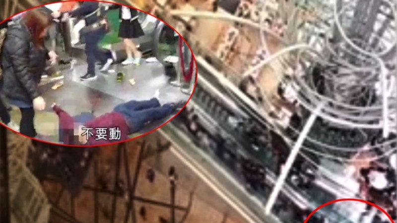 特首選舉前夜 香港最長電梯突吞人 釀18傷