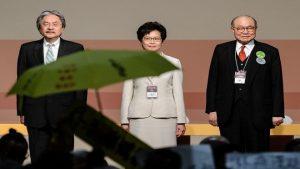 【圖文直播】港選特首 林鄭月娥當選 場內抗議聲不斷