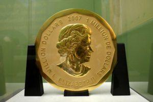 重百公斤 純度破吉尼斯! 世界首枚百萬金幣遭竊