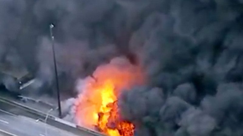 亞特蘭大繁忙大橋被燒塌 3流浪漢涉縱火