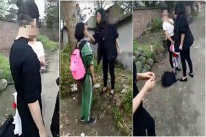 川中學女生校外打人 狂摑小女生14巴掌