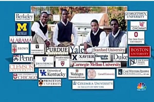 美4胞胎兄弟 同时被哈佛和耶鲁大学录取