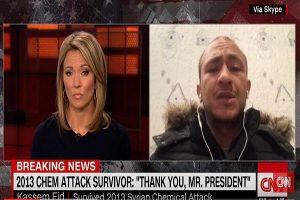 美軍空襲敘利亞 CNN訪問難民 主持人臉部竟成焦點