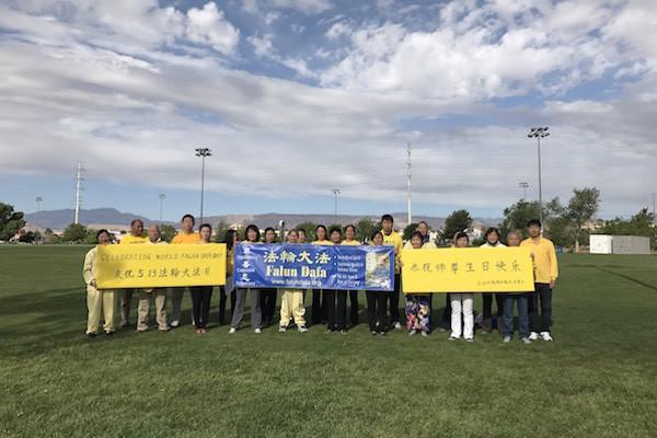 拉斯维加斯学员庆祝世界法轮大法日
