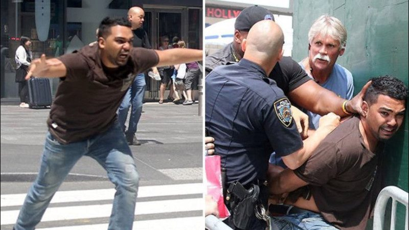 紐約時代廣場汽車撞人群 司機身分確定 高清正面照曝光(視頻)