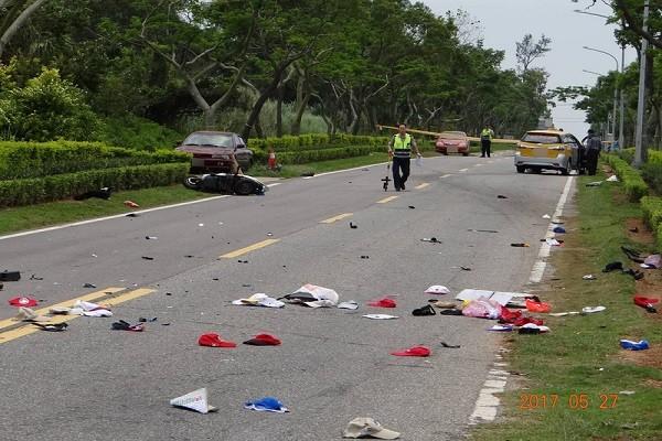金门追撞死亡车祸 父重摔对向车道2死