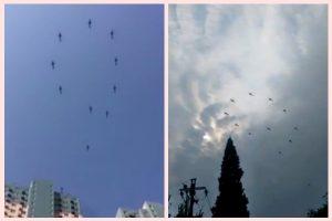 陸直升機排字釋信號    傳習近平擬「閱兵」壓陣十九大