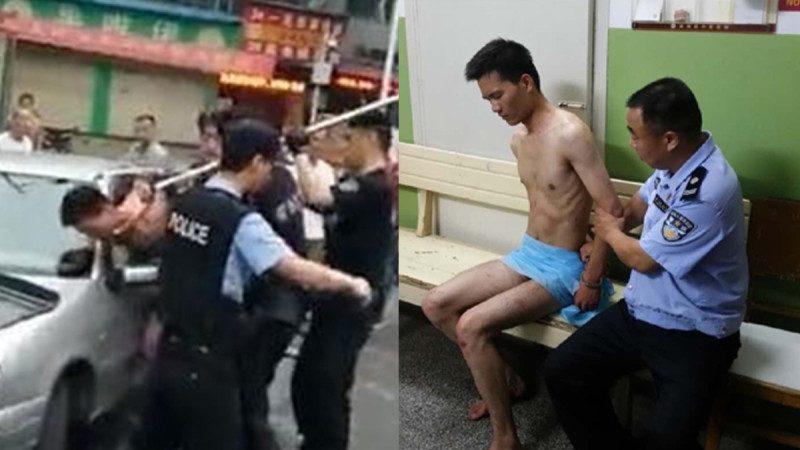 武漢裸男持刀隨機捅人  致1死3傷