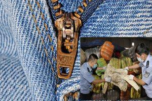 福建查獲500噸韓國舊衣 部分有血來自殮房
