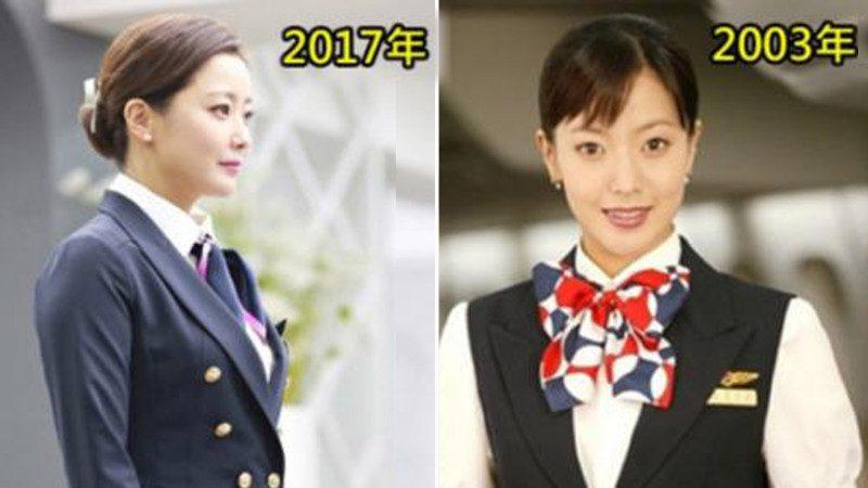 时隔14年 金喜善再扮空姐 网友惊: 39岁的她竟更年轻