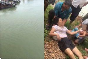 廣西女背幼女跳江自殺 漂10分鐘獲救 女兒大哭