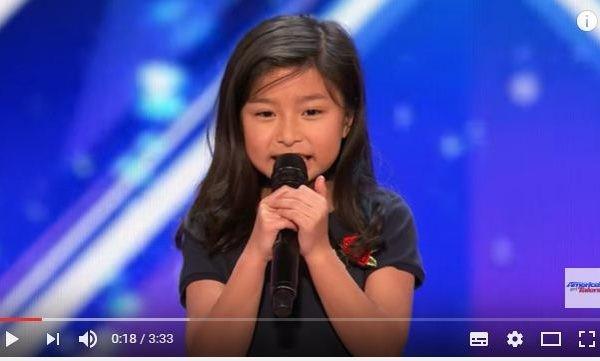 9歲華裔女美國達人秀飆唱名曲 全場起立鼓掌(視頻)