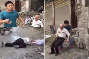 貴州8旬老人倒地 青年救人先拍片擔心碰瓷