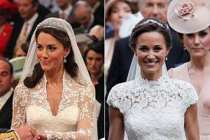 凯特妹大婚装扮被扒细节 一物借自凯特