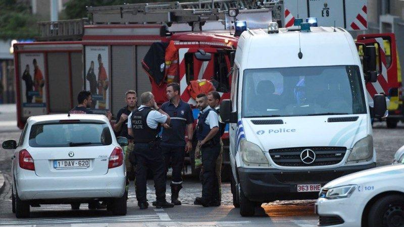 布鲁塞尔恐袭 军警如临大敌 现场照片曝光(视频)