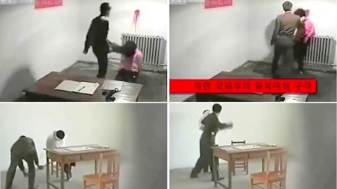朝虐囚视频曝光 国安揪头撞血墙 逼问与中国关系