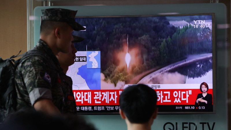 朝鲜射弹挑衅 川普:难以相信日韩忍耐这么久
