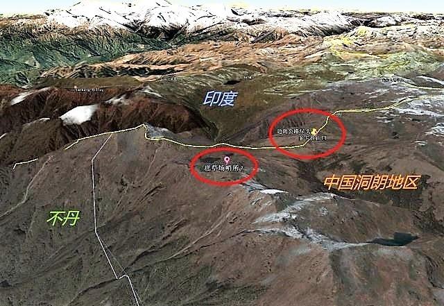 """对峙地点卫星图曝光 印军遍布碉堡坑道坐等""""中方第一枪""""?"""
