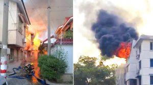 江蘇群租房凌晨大火  22名年輕人喪生