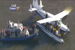 紐約水上飛機起飛失敗 迫降河面 10人全獲救