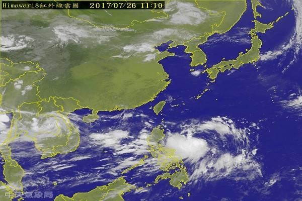 台风尼莎下午形成 台湾28日起天气有变化