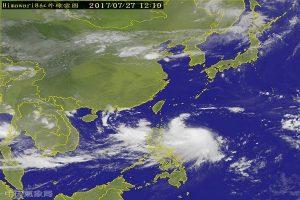 尼莎台风逼近台湾 暴风圈恐笼罩全台