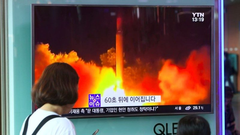 """朝鲜夜射""""火星-14型"""" 专家:射程升至1万公里"""