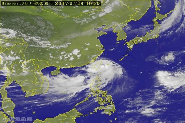 颱風尼莎今晚8點登陸 僅防「海棠」現藤原效應