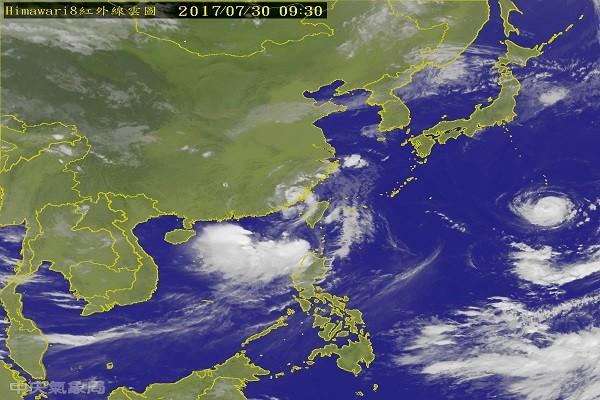尼莎台风渐离 海棠紧随其后 暴风圈中午触陆