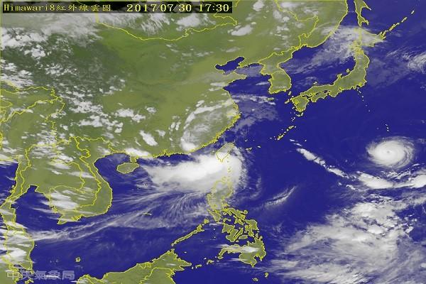 台风海棠从枫港登陆 兰屿现14级阵风