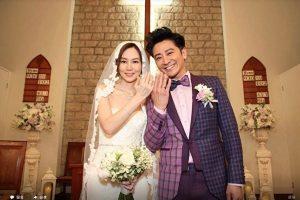 孫耀威在港補辦婚禮 200親友百年教堂見證