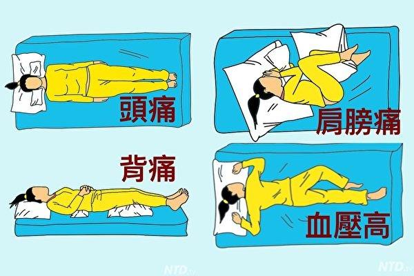 神奇!9种睡姿快速解除9种疼痛(组图)